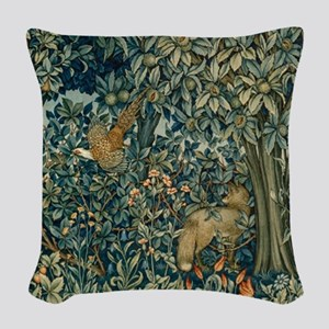 William Morris Greenery Woven Throw Pillow